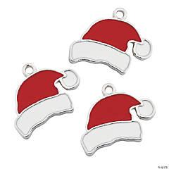 Santa Hat Enamel Charms
