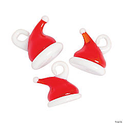 Santa Hat Premium Glass Charms