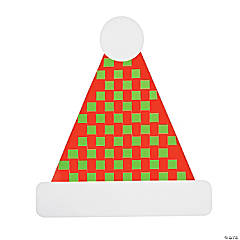 Santa Hat Weaving Mat Craft Kit