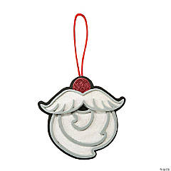 Santa Mustache Ornament Craft Kit