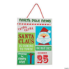 Santa News Sign Craft Kit