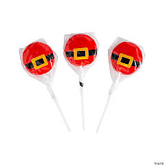Santa's Belt Lollipops
