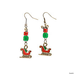 Santa's Sleigh Earrings Craft Kit