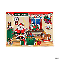 Santa's Workshop Mini Sticker Scenes