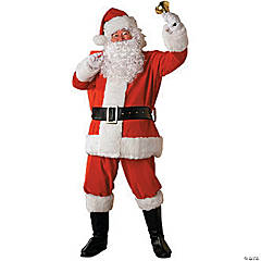 Santa Suit Plush Regency Adult Men's Costume