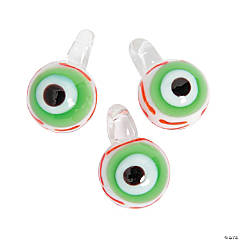 Santa's Eyeball Lampwork Charms