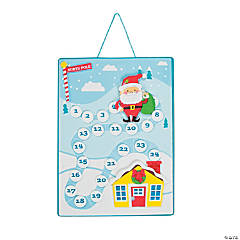 Santa's Journey Christmas Countdown Sign Craft Kit