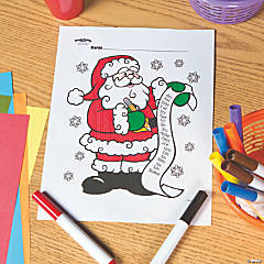 Santa's List Free Printable Coloring Page