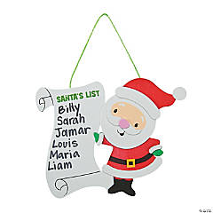 Santa's List Sign Craft Kit