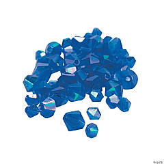 Sapphire Aurora Borealis Cut Crystal Bicone Beads - 4mm-6mm
