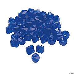 Sapphire Crystal Bicone Beads - 8mm