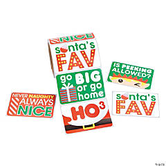 Sassy Christmas Jumbo Sticker Rolls