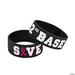 Save 2nd Base Big Band Rubber Bracelets