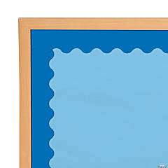 Scalloped Blue Bulletin Board Borders