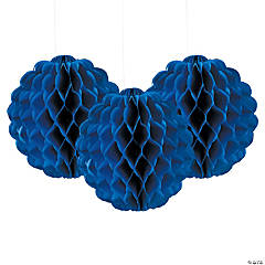 Scalloped Blue Tissue Balls