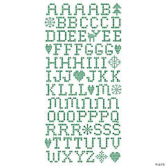 Scandia Jul Green Cross Stitch Rub-Ons