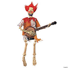 Scary Clown Playing a Banjo