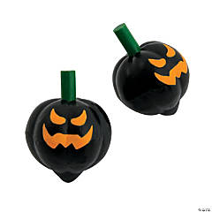 Scary Halloween Jack-O'-Lantern Spin Tops