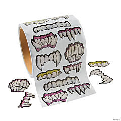Scary Teeth Roll Stickers