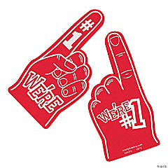 School Spirit Red Foam Hands