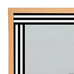 Schoolgirl Style™ Black & White Striped Bulletin Board Borders