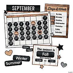 Schoolgirl Style&#8482;<sup> </sup>Industrial Chic Calendar Bulletin Board Set