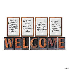 Schoolgirl Style&#8482;<sup> </sup>Industrial Chic Welcome Bulletin Board Set