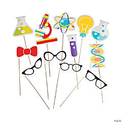 Science Party Photo Stick Props