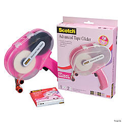 Scotch Advanced Tape Glider & Tape-Pink .25 inches x 36 yards