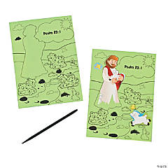 "Scratch 'N Reveal ""The Lord Is My Shepherd"" Sheets"