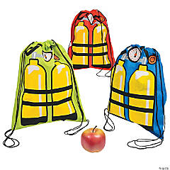 Scuba Tank Drawstring Backpacks