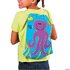 Sea Creatures Canvas Drawstring Bag Idea