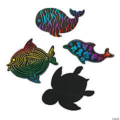 Sea Life Magic Color Scratch Shapes