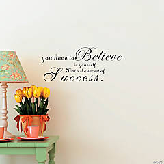 Secret of Success Wall Decal