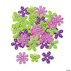 Self-Adhesive Polka Dot Flowers & Butterflies