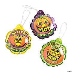 Self-Inflating Christian Pumpkin Mylar Balloons