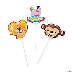 Self-Inflating Circus Mylar Balloons Assortment