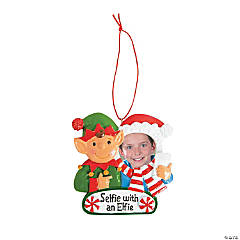 Selfie with Elfie Christmas Ornaments