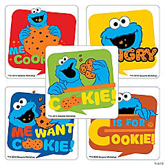 Sesame Street Cookie Monster Stickers