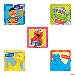 Sesame Street Head Shot Stickers