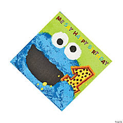 36 Sesame Street® 1st Birthday Cookie Monster Luncheon Napkins