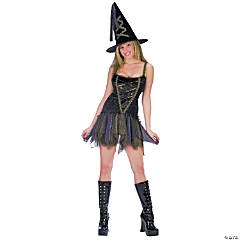 Sexy Flirty Witch Adult Women's Costume