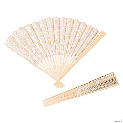Shabby Chic Lace Folding Fans