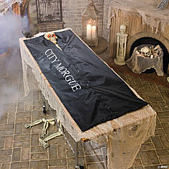 Shaking Skeleton in Body Bag Halloween Décor