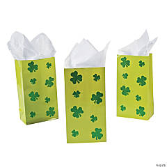Shamrock Glitter Treat Bags