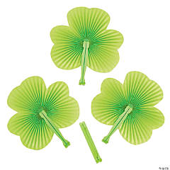 Shamrock-Shaped Folding Fans