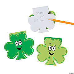 Shamrock-Shaped Notepads