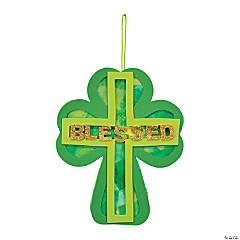 Shamrock Tissue Paper Cross Craft Kit