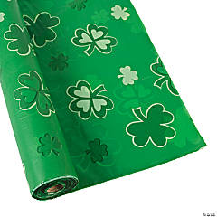 Shamrocks Plastic Tablecloth Roll