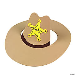 Sheriff Cowboy Hat Craft Kit